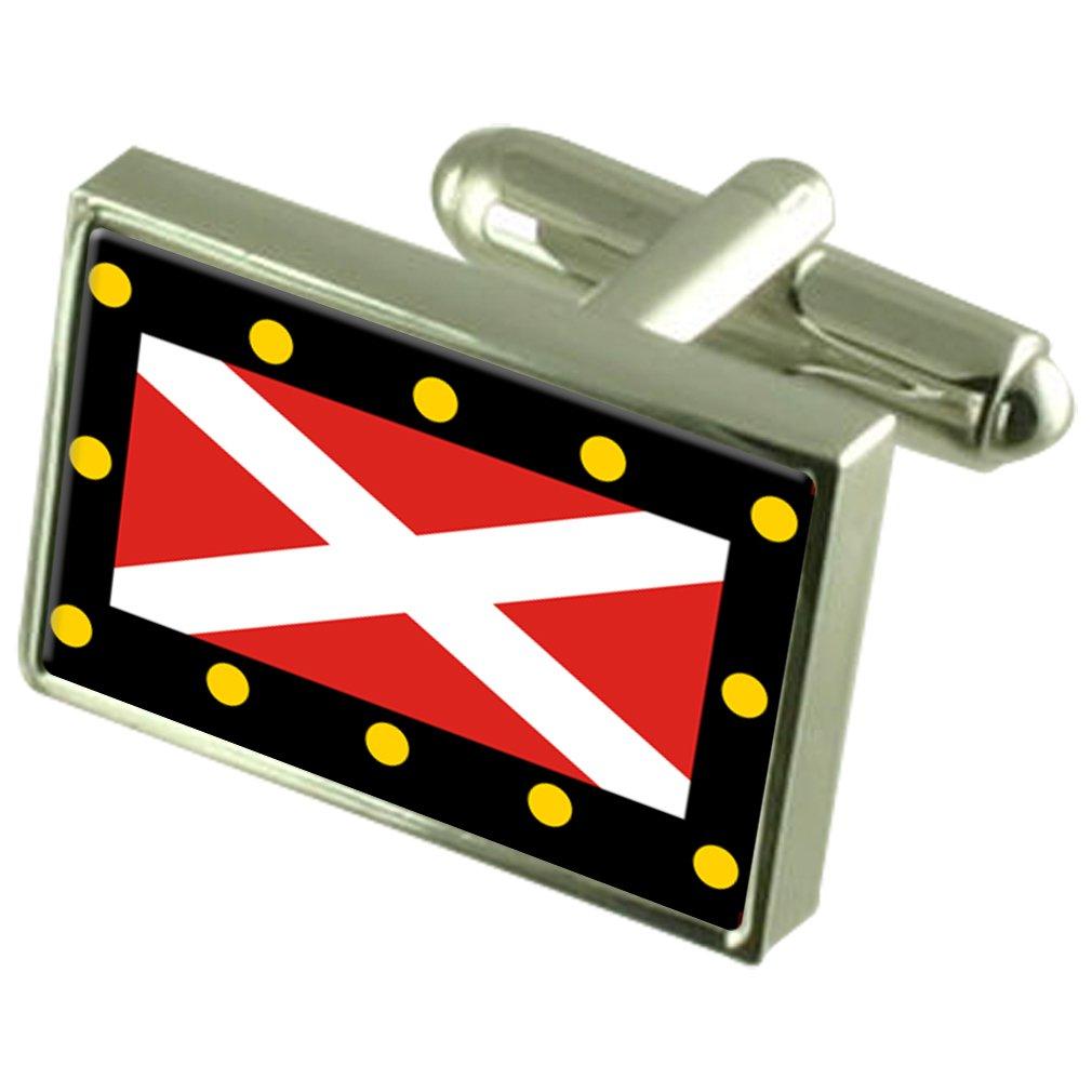 Hampton Poyle 市イングランド旗カフスボタン刻まれたボックス   B0713MYMKH