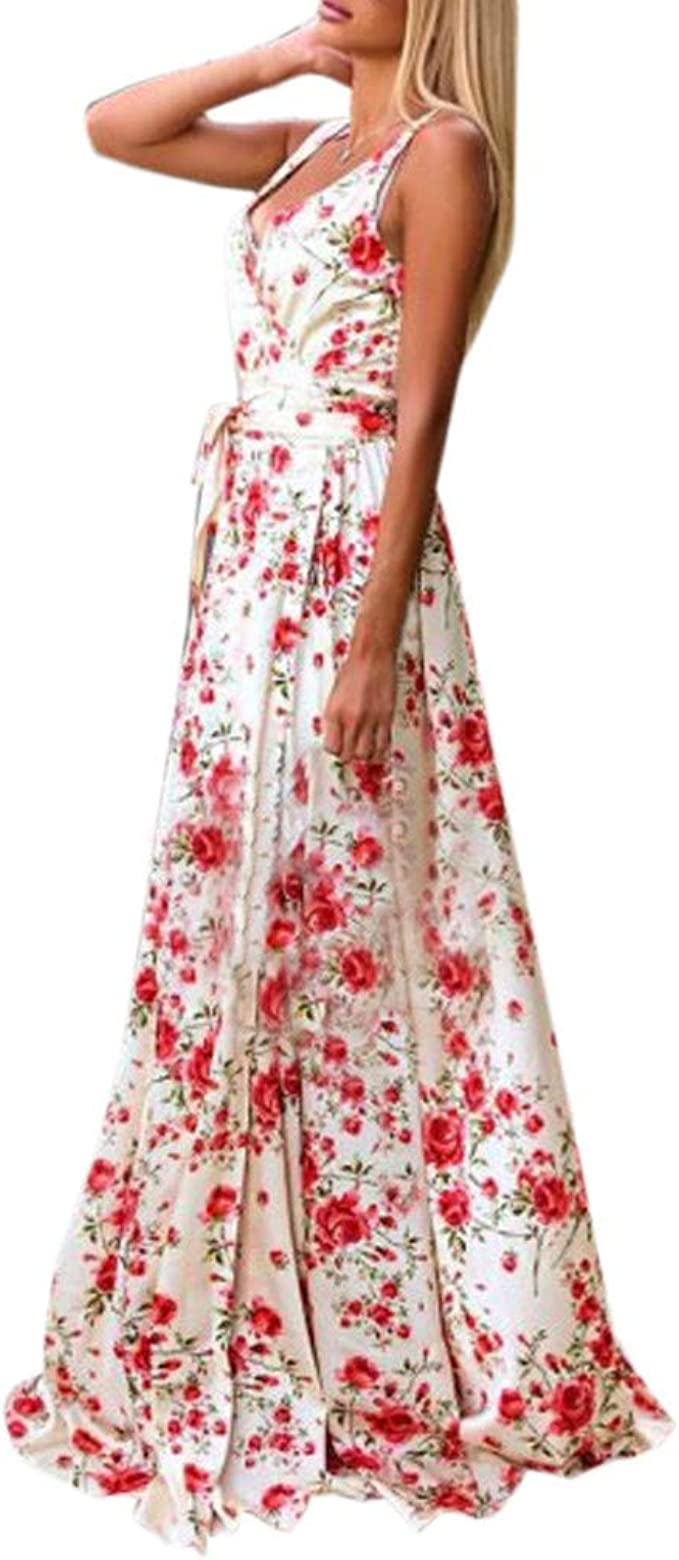 Kleid Kleider Damen Sommer Schöne Vintage Boho Sexy Lang