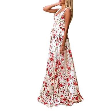 4df543110d63 Mosstars 🎀 Vestidos de Fiesta Mujer Largos Mujeres Verano Boho ...
