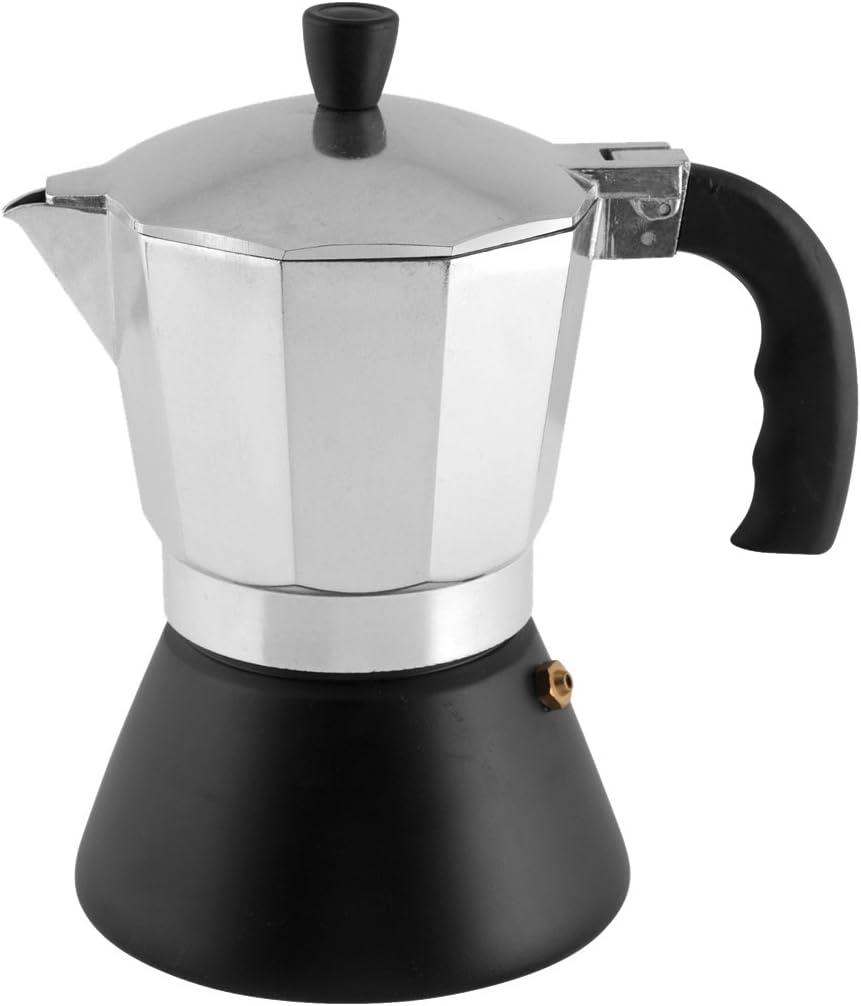 H&H Dynamic Cafetera para 6 Tazas, Fondo inducción, Aluminio ...