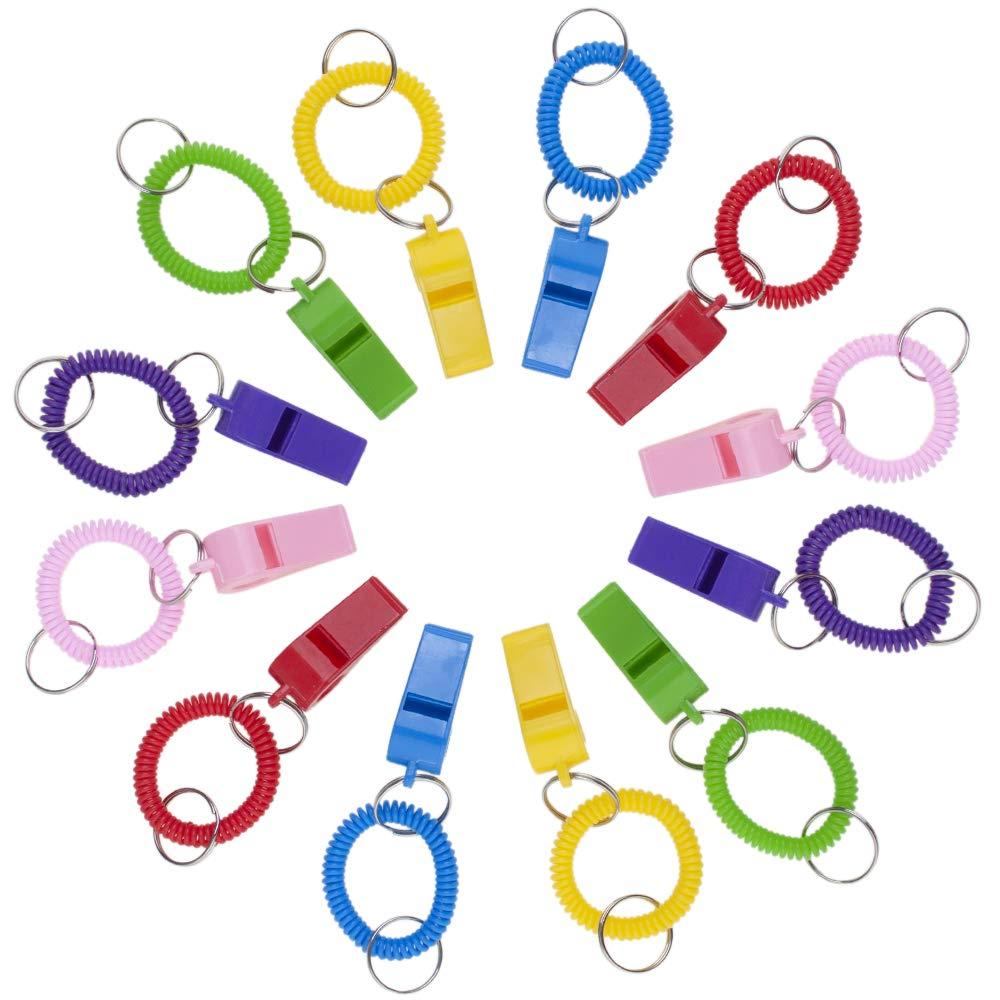 GOGO 6 6 6 PCS Werbe Party Whistle erweiterbar Schlüssel Kette Handgelenk Coil Großhandel von Sporting Whistles, Sortiert, 10er-Pack 5e42cf
