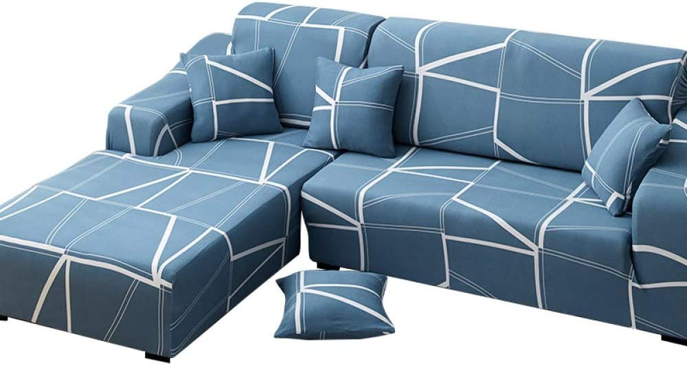 CXL Sofá de Cuero Doble combinación Triple Chaise Longue Funda de sofá Todo Incluido cojín de sofá Universal Funda Completa Tela Simple Tela Antideslizante Funda de sofá