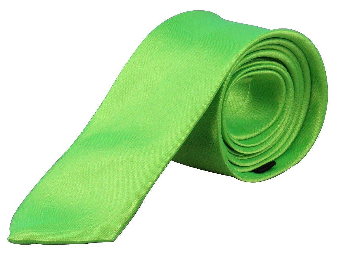 Schmale Herren / Damen Krawatte / Eintecktuch 5cm - von Hand gefertigt | Schwarz | Weiß | rot | Grün KW