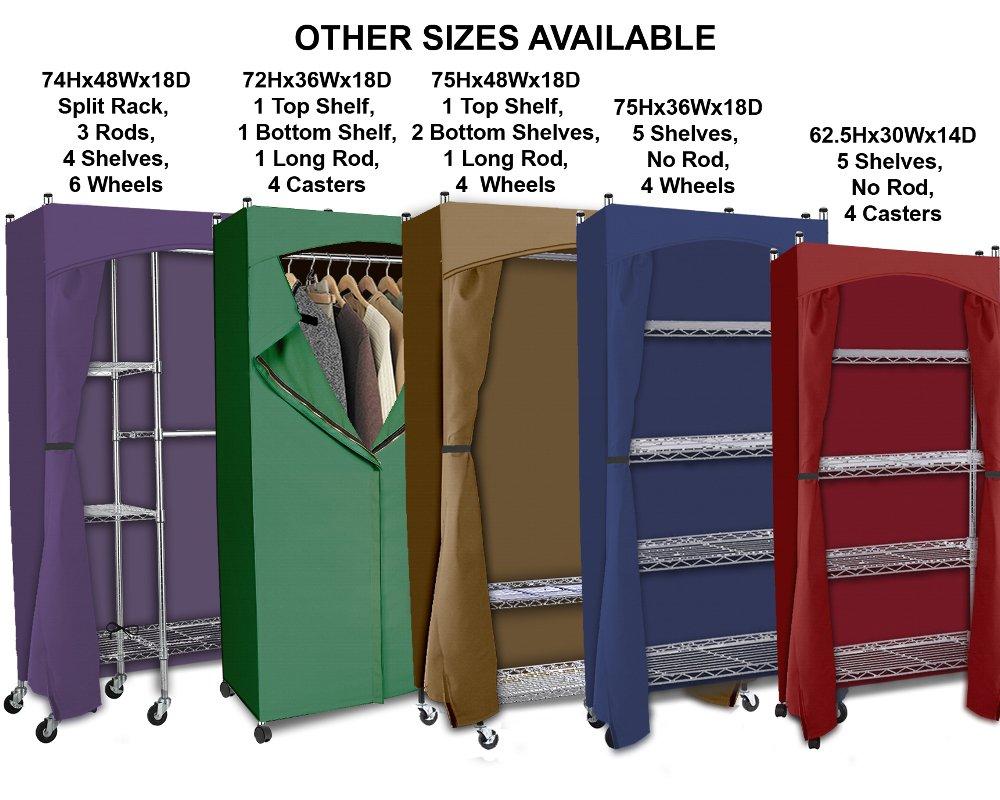 Perfect Amazon.com: Portable Wardrobe Closet W/ Premium Cotton Canvas/Duck Cover  (72 75Hx36Wx18D) Cream: Home U0026 Kitchen