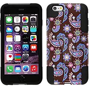 Trek Hybrid Stand Case for Apple iPhone 6 Plus - Paisley Pastel on Brown