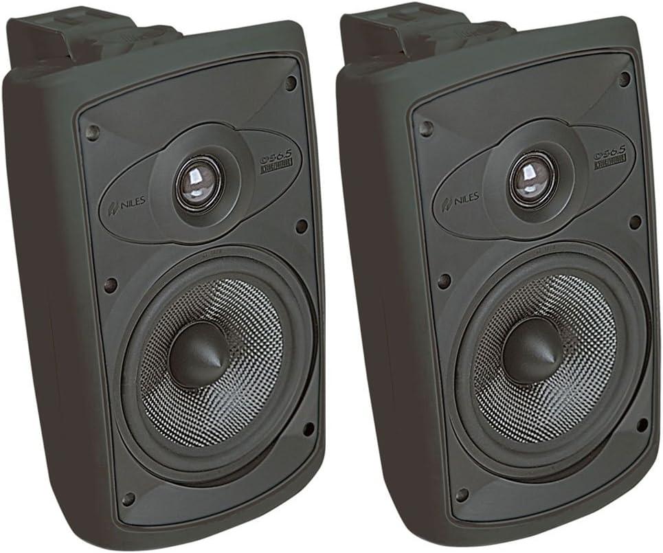 Niles OS6.5 Black (Pr) 6 Inch 2-Way High Performance Indoor Outdoor Speakers (FG00995)
