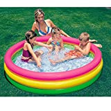 Lucky Shop1234 Inflatable Swimming Pool Swim Center Family Lounge Pool Outdoor Fun Toy for Hot Summer Swimming Party Children Kids Beach Pool Play (57.9''X 57.9''X 13'')