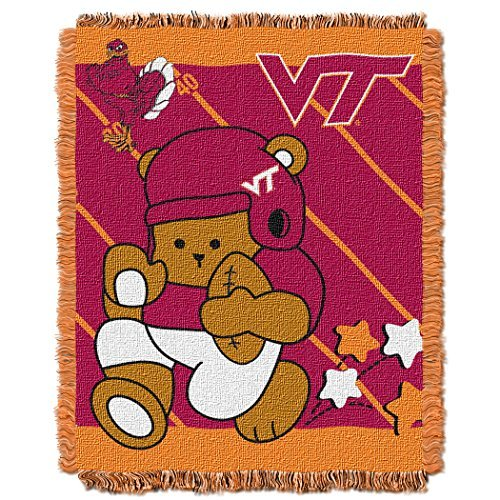 NCAA Virginia Tech Hokies Fullback Woven Jacquard Baby Throw Blanket, 36x46-Inch by Northwest