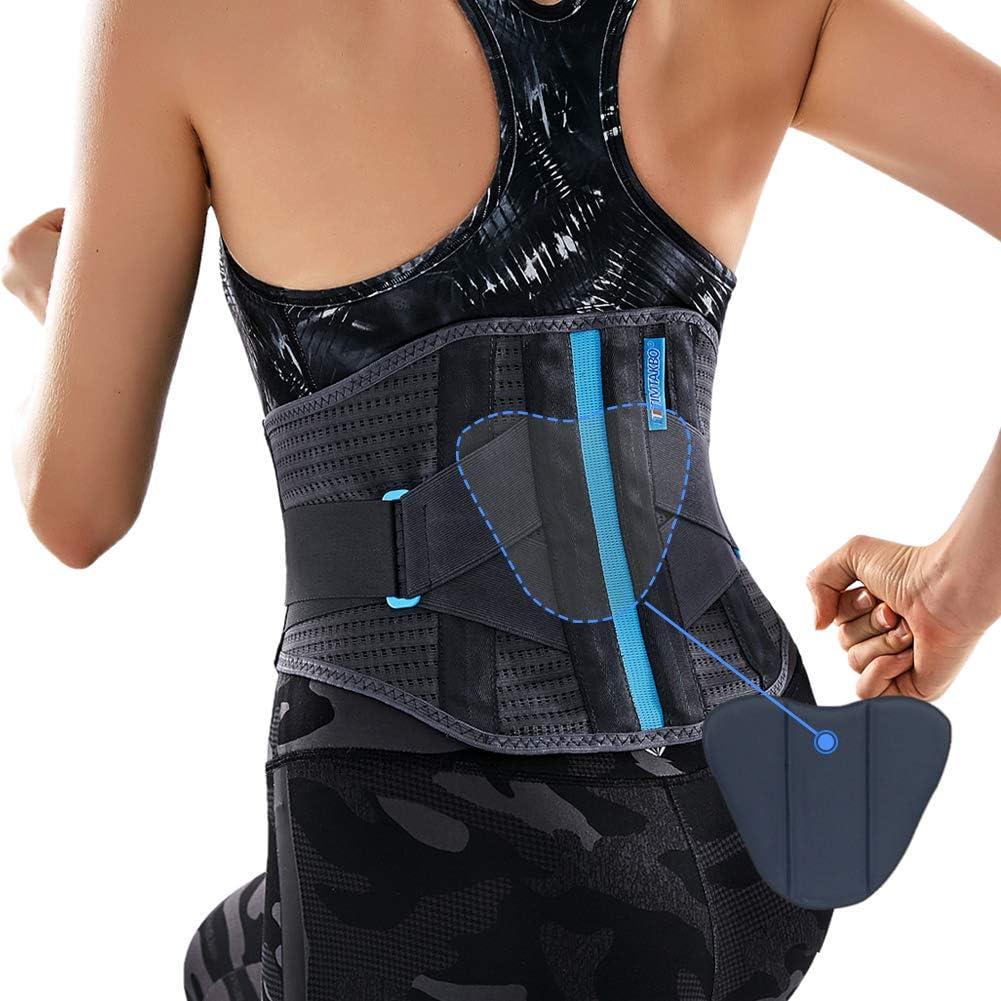 T TIMTAKBO Lower Back Brace W/Removable Lumbar Pad for Men Women Herniated