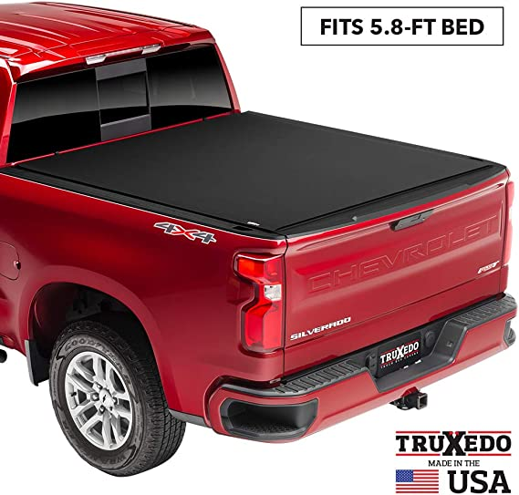 TruXedo Pro X15 Soft Roll Up Truck Bed Tonneau Cover | 1472401 | fits 2019 - 2020 New Body Style GMC Sierra & Chevrolet Silverado 1500 (Will not fit Carbon Pro Bed) 5'8