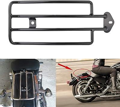 Tuincyn Motorrad Gepäckträger Für Den Hinteren Solo Sitz Schwarz Passend Für Harley Davidson Xl Sportster 1985 2003 1 Stück Auto