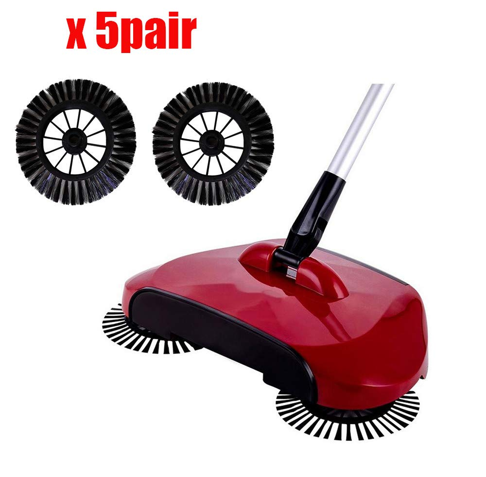 Home Use Magic Manual Telescopic Floor Dust Sweeper Side Brush Replacement Accessories Consumable 10pcs