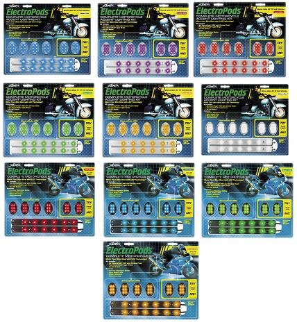 (Street FX Electropods Lightpod/Strip Kit Black Finish Yellow LEDs)