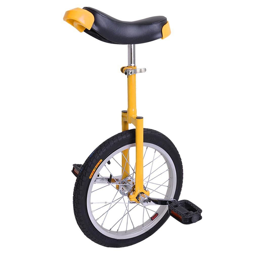 AW 16'' Inch Wheel Unicycle Leakproof Butyl Tire Wheel Cycling Outdoor Sports Fitness Exercise Health Yellow