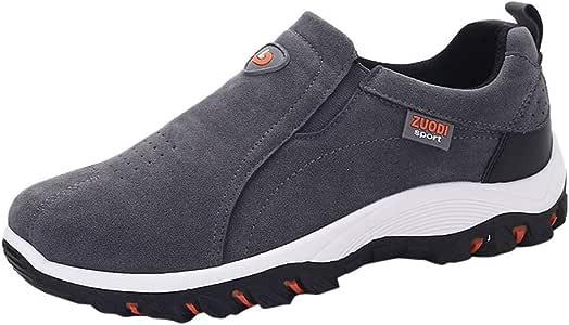 LuckyGirls Hombre Zapatillas de Correr Casual Calzado de Deporte Zapatos Deportivos Sin Cordones Moda Bambas de Running Zapatos de Senderismo: Amazon.es: Deportes y aire libre
