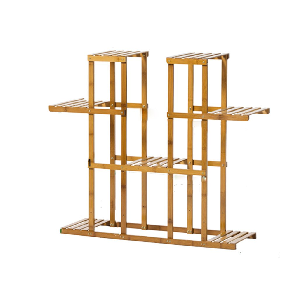 LJHA huajia Balcony Multi-Storey Flower Rack Solid Wood Living Room Floor and More Meat Green Radish Flower pots Rack Interior Assembly Flower Rack Spend a Few Flower Racks (Size Optional) by GYH Flower stand
