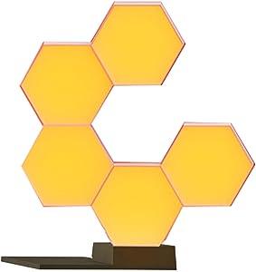 Yescom WiFi Smart LED Light Kit Splicing 5 Blocks & Base 16 Million Color Work Cololight with Alexa Google Home Decor