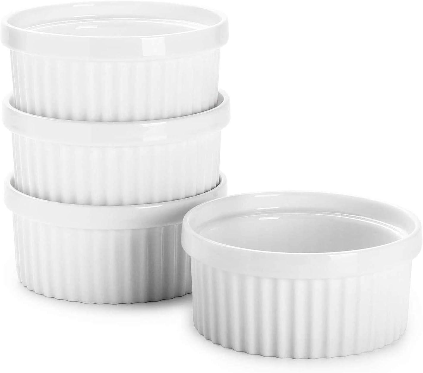 32 Oz 1 Quart Large Ceramic Oven Safe Round Souffle Dish Ramekins for Baking