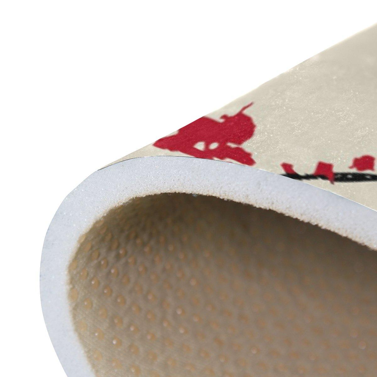 tradizionale fiore Sakura Cherry Blossom nursery tappeto pavimento tappetino yoga Multi 120 x 180 cm 4 x soggiorno cucina 50/x 80/cm 1.7/x 2.6 ft Naanle Giappone giapponese stile vintage tappeto antiscivolo per per camera da letto