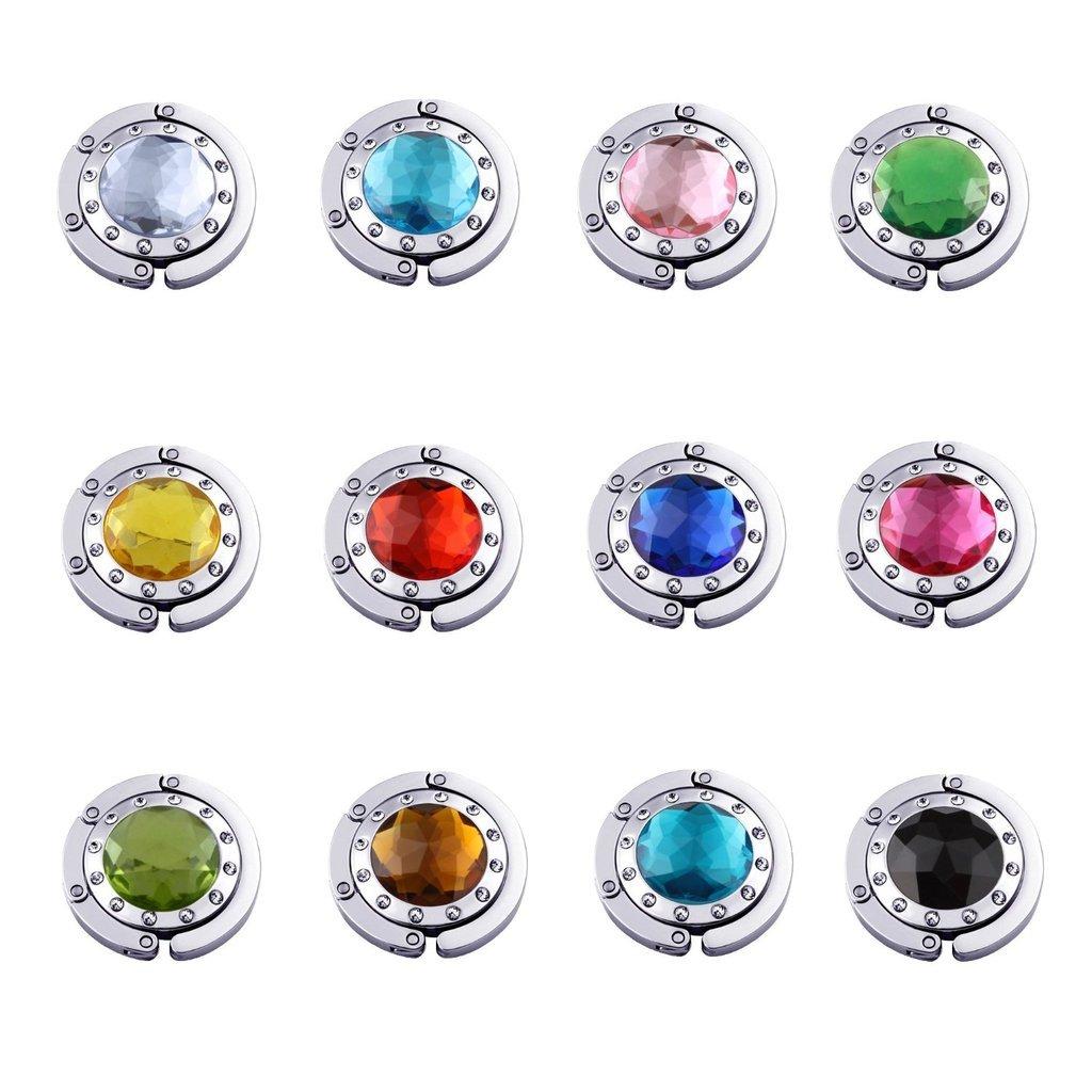 SKL - Gancho para bolsos , 12 PCS Mix Color (Varios colores) - HH-01