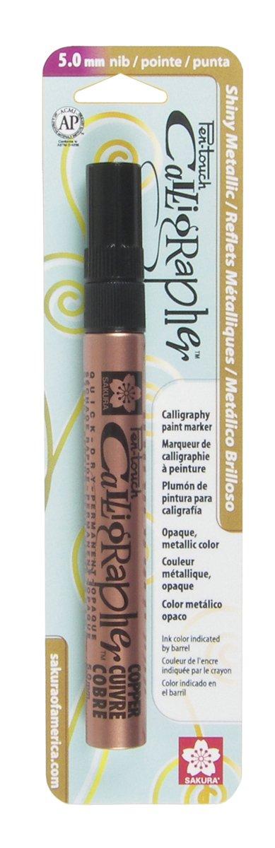 Pen-Touch Calligrapher Sakura 47380 Blister Card Marker Pen, Fine, White Sakura of America