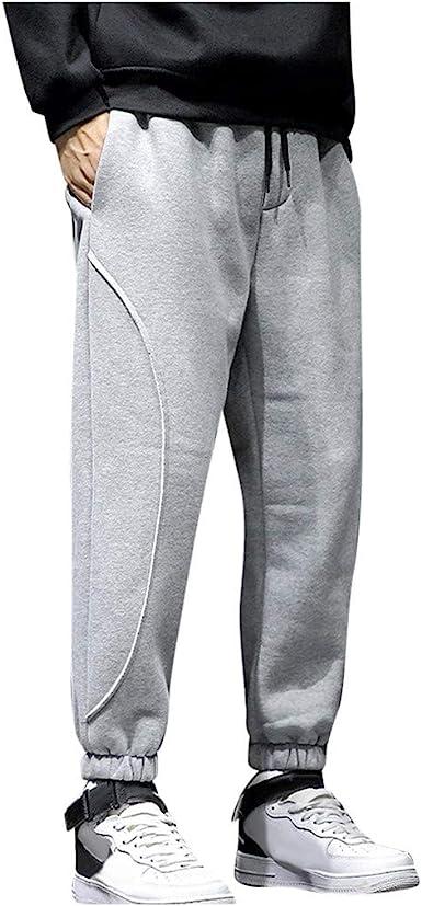 Men Fleece Casual Track Pants Workout Joggers Sweatpants Sport Long Trousers