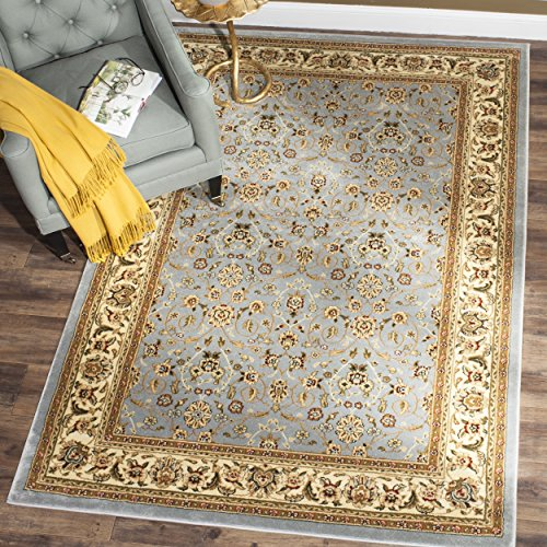 8x11 Ivory Area Rugs (Safavieh Lyndhurst Collection LNH312B Traditional Oriental Light Blue and Ivory Area Rug (8' x 11'))