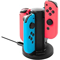 Insten Joy-Con USB Charging Dock Compatible with Nintendo Switch, Insten 4 in 1 Joy-Con Charger Dock Station LED Charging Indicators and Micro USB Cable Compatible with Nintendo Switch Console