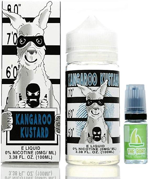 E Liquid Kangaroo Kustard 100ml - 70vg 30pg- booster shortfill + ELiquid The Boat 10 ml lima limón - Pack de 2 unidades para cigarrillo electrónico.: Amazon.es: Salud y cuidado personal