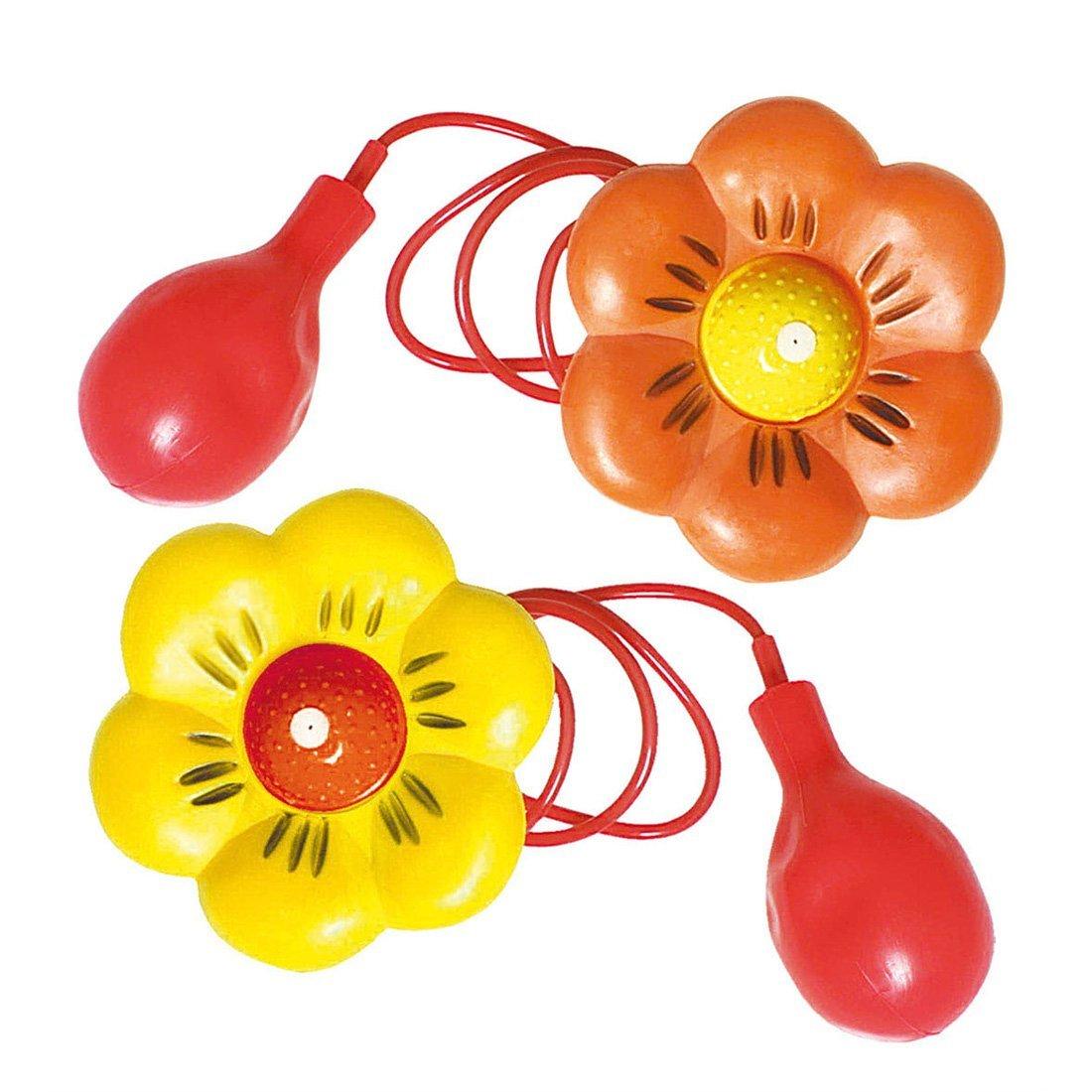 NET TOYS Fiore a spruzzo da clown elemento nuovo fiore da circo in vari colori