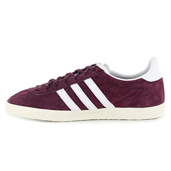 Adidas Gazelle Og Maroon Suede Leather Mens Trainers