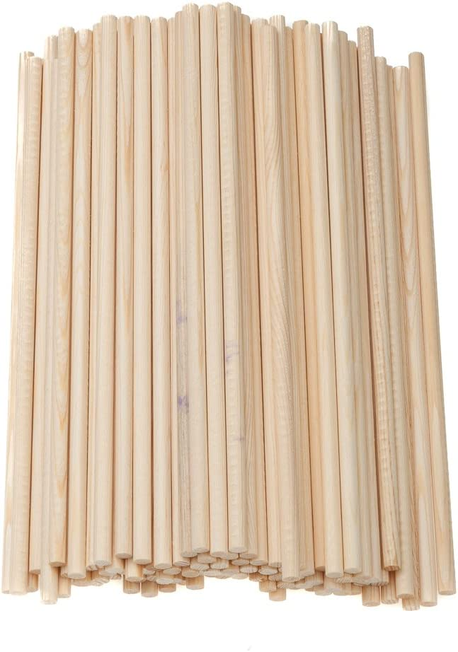 Pllieay 60 Pieces Natural Bamboo Sticks Wood Craft Sticks Extra Long Sticks for Crafting 15.7 Inches Length /× 3//8 Inches Width