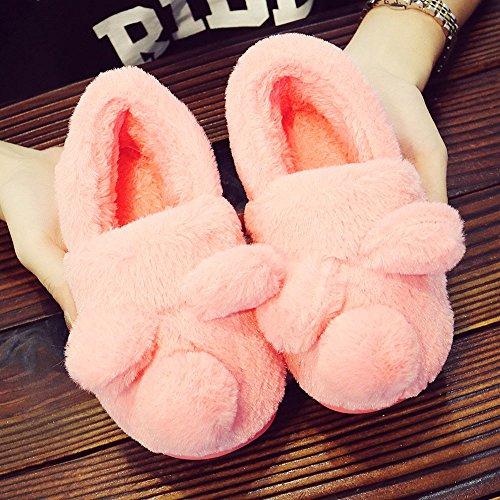 OverDose Nette Kinder Mädchen Non-Slip Bowknot Weiche Sole Krabbelschuhe Samt Schnee Stiefel Krippe Schuhe Kleinkind Winter Stiefel Turnschuhe A-Pink 2
