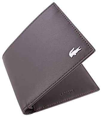 be7c799a4857 Image Unavailable. Image not available for. Color  Lacoste Mens Small Billfold  Wallet - Dark Brown