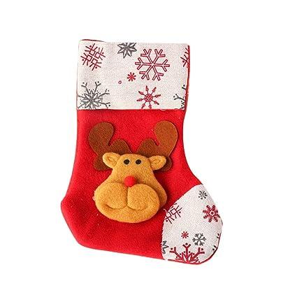 Isuper Navidad Que cuelgan Medias Papá Noel Lindo Calcetines Ornamentos de Navidad Fiesta de Navidad Decoración