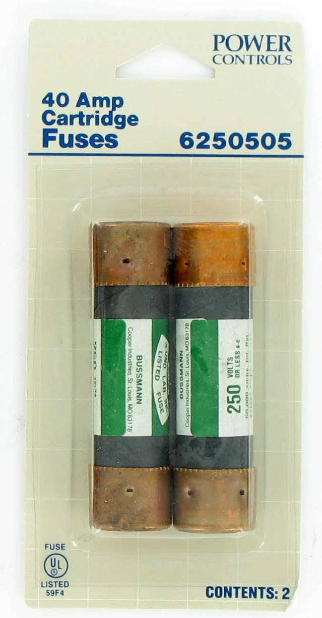 Buss 3'' 40 Amp Onetime Cartridge Fuse