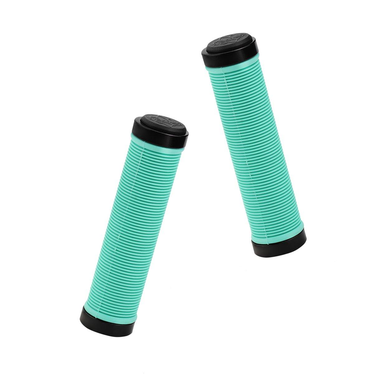She-Lin Bike Handlebar Grips - Double Lock-on Bicycle Grip Handle Bar Nonslip Rubber End Holding Locking Grips, for MTB, BMX, Mountain, Downhill, Folding Bike