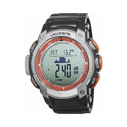 Laurens m126r900y - Reloj digital de pulsera para hombre Altímetro Barómetro Brújula: Amazon.es: Relojes
