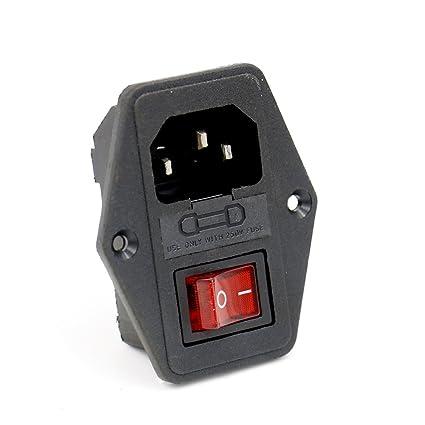 amazon com baomain inlet module plug fuse switch male power socket rh amazon com