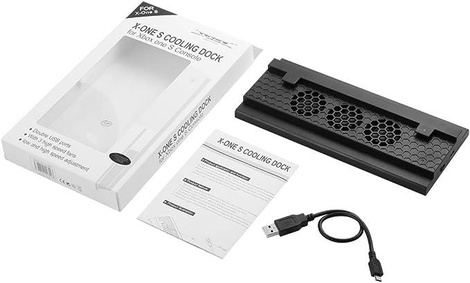 LESHP Ventilador Xbox-ONE-S Consola de Ventilador Soporte Vertical Refrigerador Turbo de Calor Exhauster para la Consola de Juegos XBOX-ONE-S: Amazon.es: Electrónica