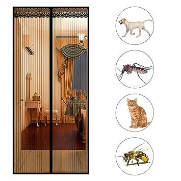 Magnetvorhang T/ür Automatisches Schlie/ßEn GOUDU Magnet Fliegengitter T/ür Insektenschutz Wei/ß 80x200cm f/ür Balkont/ür Wohnzimmer Terrassent/ür 31x79inch