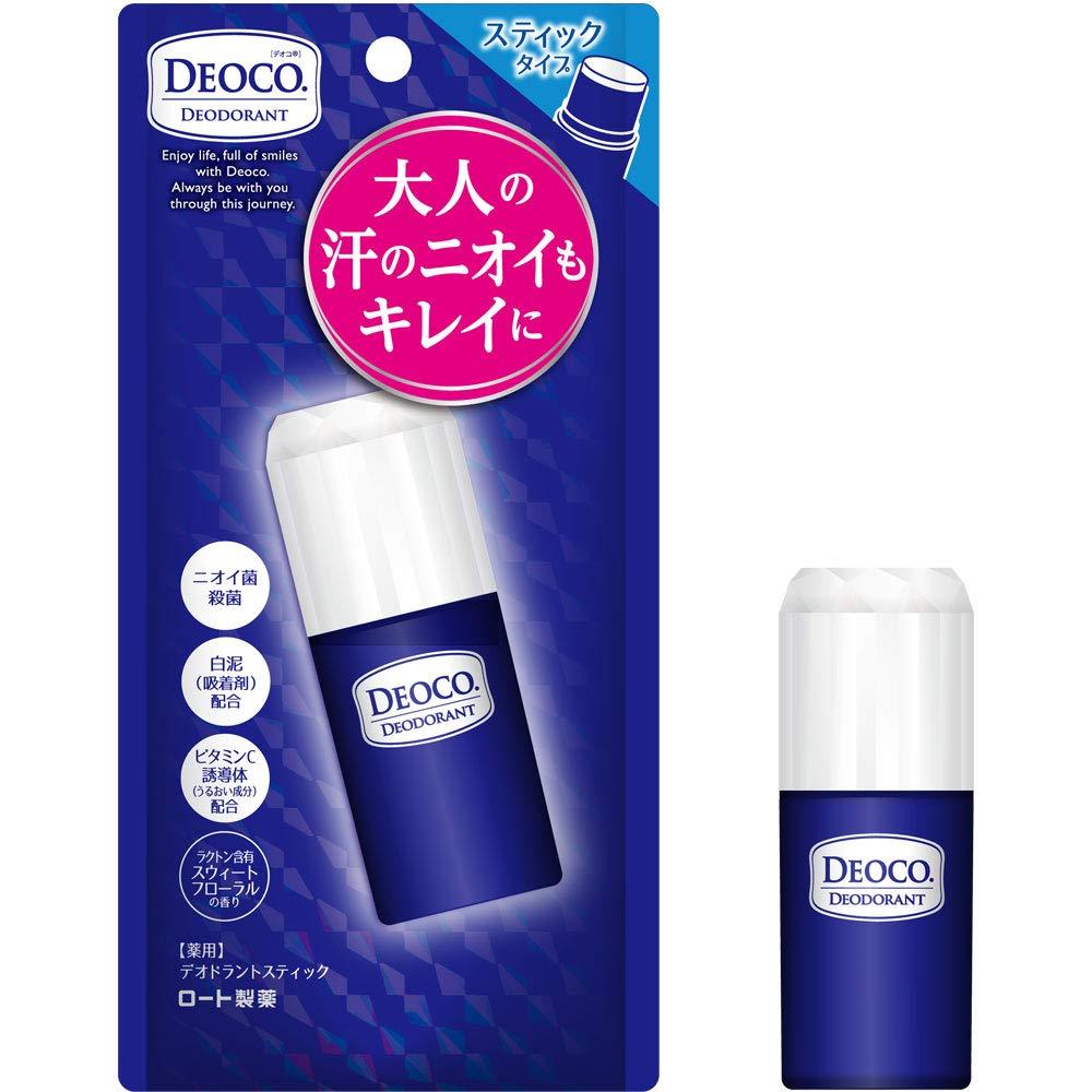 【医薬部外品】 デオコ 薬用 デオドラント ラクトン (年齢と共に減少する甘い香成分)含有 スウィートフローラルの香 スティック 13g