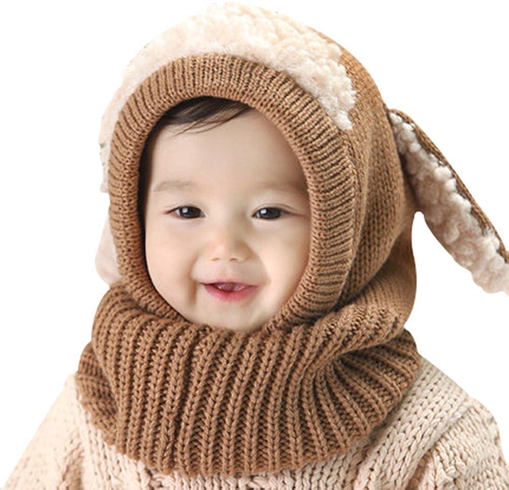 7c2870f40 Invierno del bebé Niños Chicas Chicos Tejido Gorro Punto Caliente Lana  Cofia Capucha Bufanda Caps Sombreros Ampliar imagen