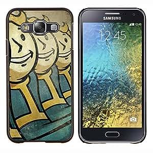 Qstar Arte & diseño plástico duro Fundas Cover Cubre Hard Case Cover para Samsung Galaxy E5 E500 (Vault Niños)