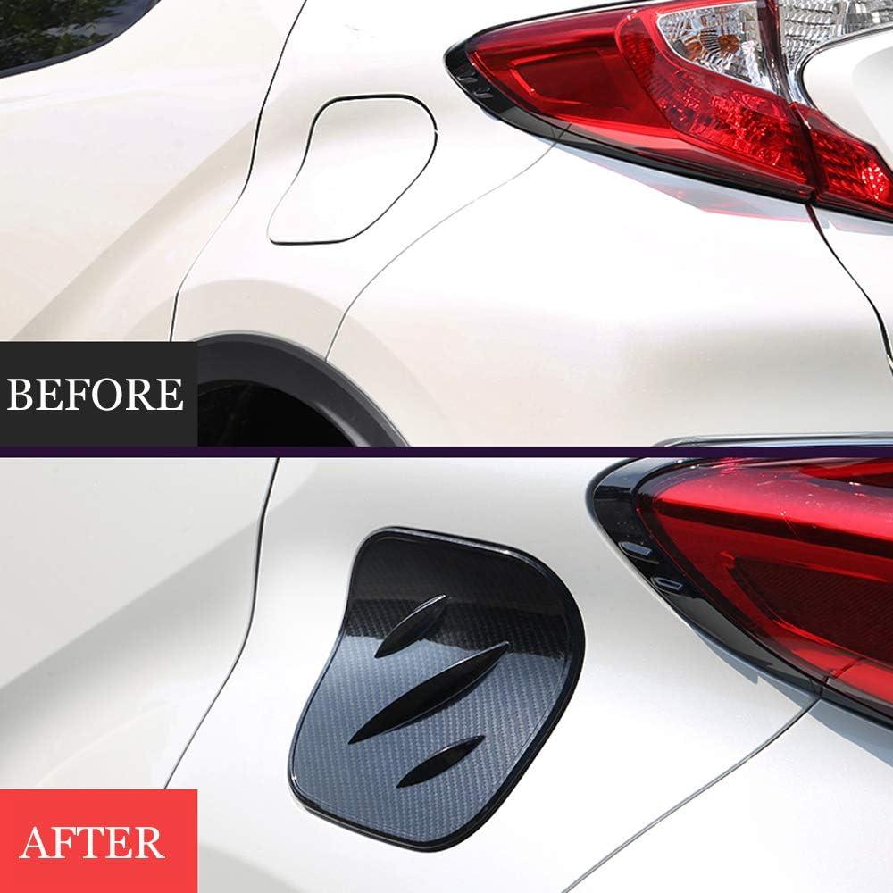 Carbon fiber color Car Fuel Oil Tank Gas Cap Cover For Toyota C-HR CHR 2016-2018