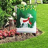 JoyPlus Decorative Garden Yard Flag Santa Claus