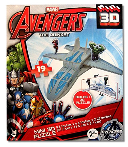 Cardinal Games Avengers Quinjet 24 Piece Puzzle Featuring Iron Man and The Incredible Hulk