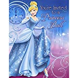 Disney's Cinderella Sparkle Party Invitations 8 Pack
