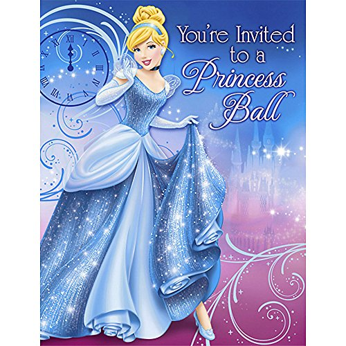 'Sparkle' Cinderella Invitations w/ Env. (8ct)