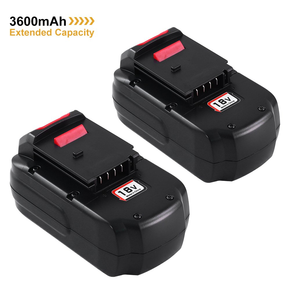 2Pack 18V 3.6Ah Replacement Battery for Porter Cable PC18B PCC489N PCMVC PCXMVC Cordless Tools